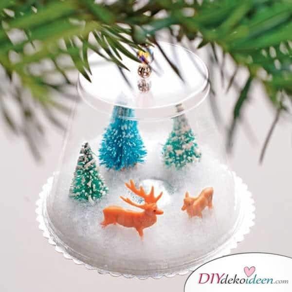 Weihnachtsbasteln mit Kindern - 15 Ideen - basteln mit Kindern - Weihnachten Dekoideen dekorieren