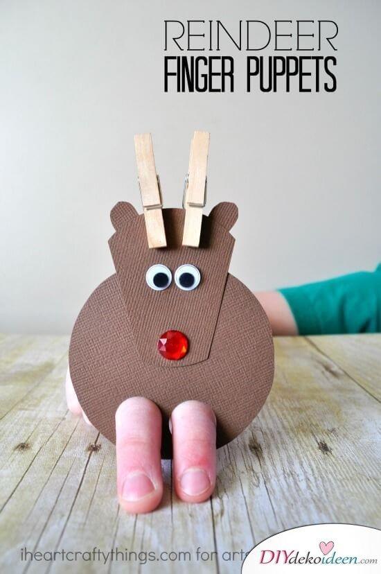 Weihnachtsbasteln mit Kindern - 15 Ideen - basteln mit Kindern - Weihnachten Dekoideen - Rentier basteln