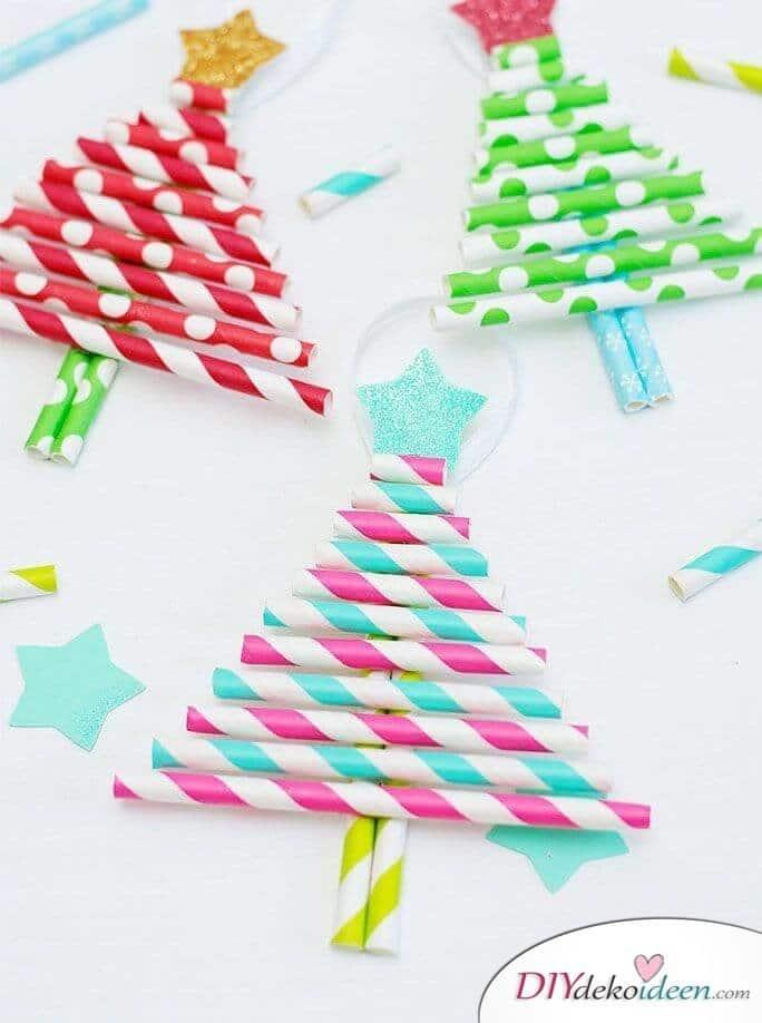 Weihnachtsbasteln mit Kindern - 15 Ideen - basteln mit Kindern - Weihnachten Dekoideen - Tannenbaum basteln