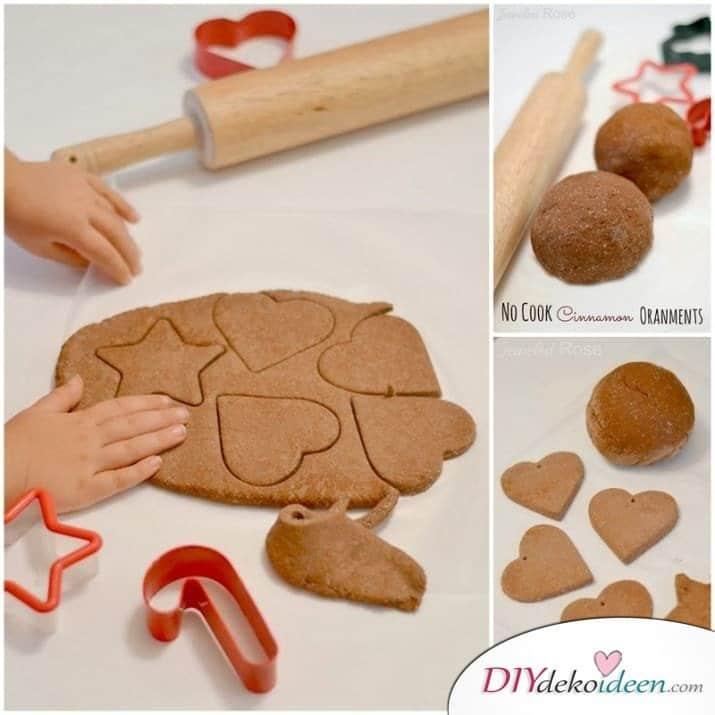 Weihnachtsbasteln mit Kindern - 15+ DIY Bastelideen - Lebkuchenanhänger