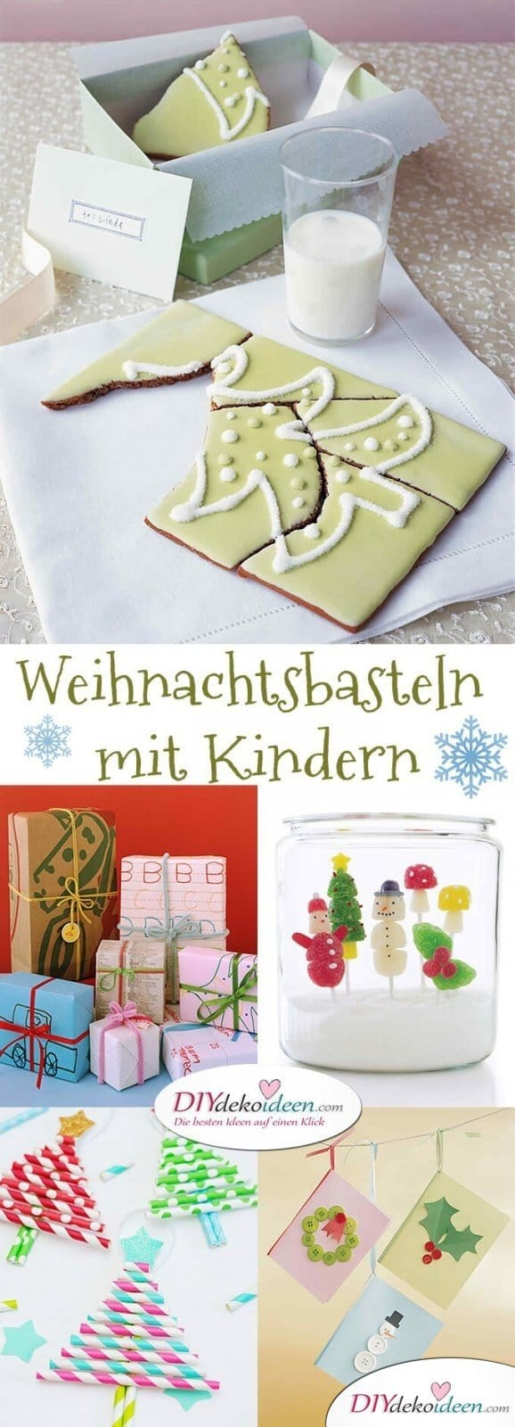 Weihnachtsbasteln mit Kindern - 15 Ideen - basteln mit Kindern - Weihnachten Bastelideen
