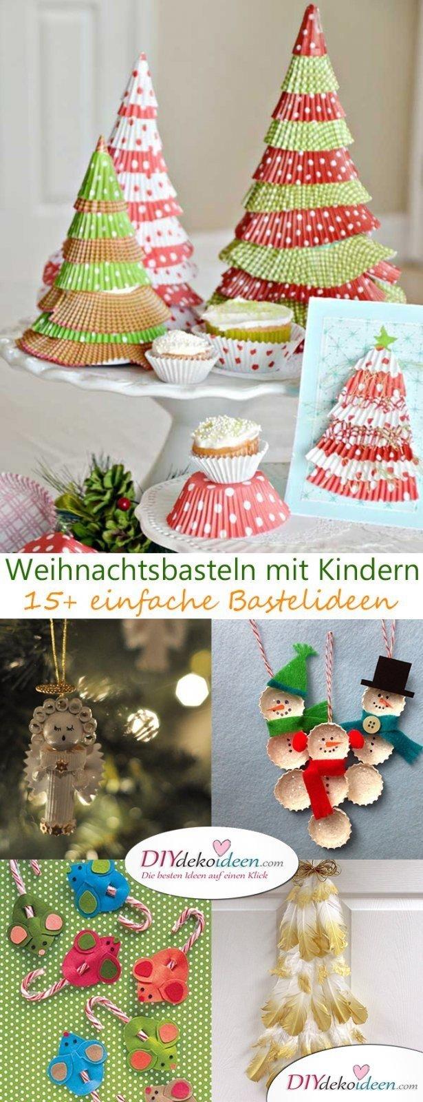 Nudelengel, Kronkorkenschneemann und Co. - Weihnachtsbasteln mit Kindern - 15+ DIY Bastelideen