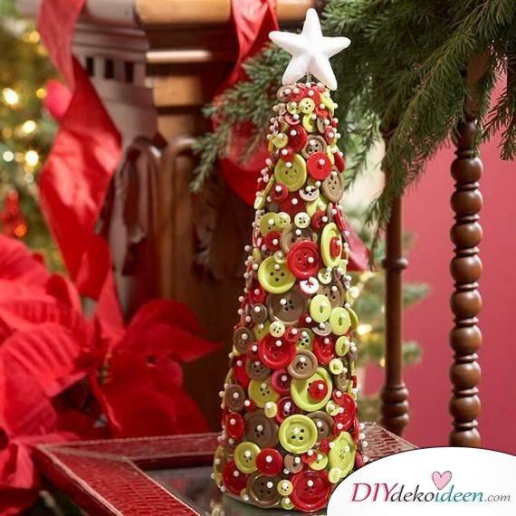 15 Weihnachtstischdeko Ideen - Tisch Dekoideen für Weihnachten - Bastelidee