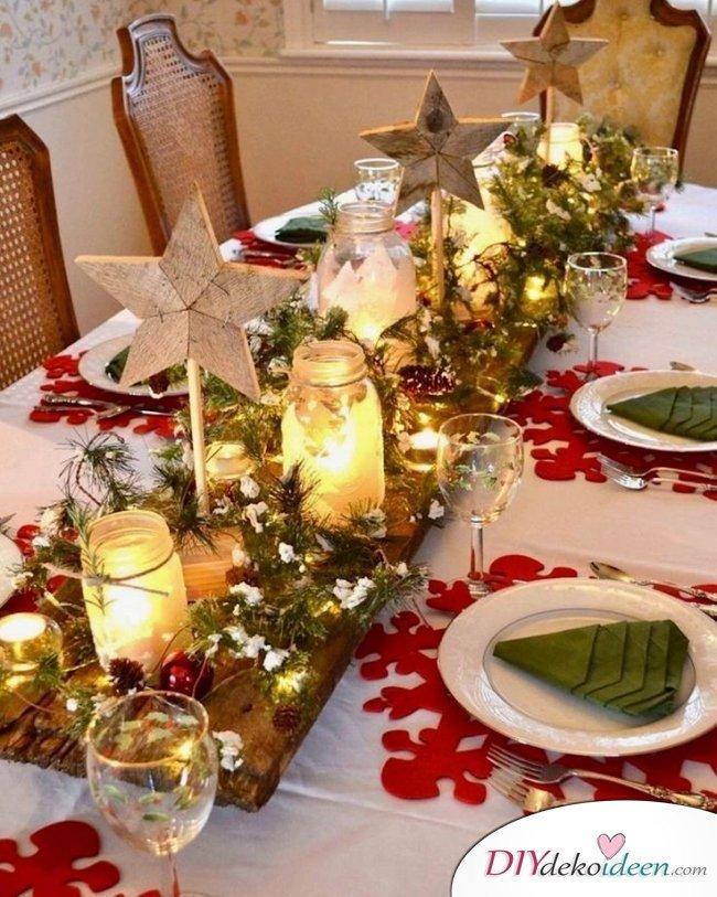 15 Weihnachtstischdeko Ideen - Weihnachten Tisch Dekoidee