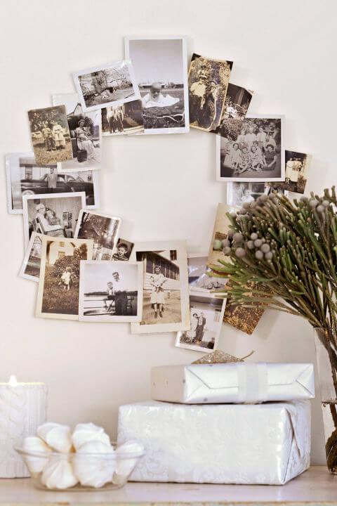 15 DIY Weihnachtsdeko Ideen - Weihnachten dekorieren - DIY Deko Weihnachten - Advent - Weihnachtsbasteln - Weihnachten Deko selber machen - Bastelideen - Familienfotos Fotowand