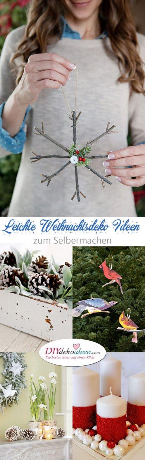 15 leichte DIY Weihnachtsdeko Ideen zum Selbermachen - Weihnachten Bastelidee