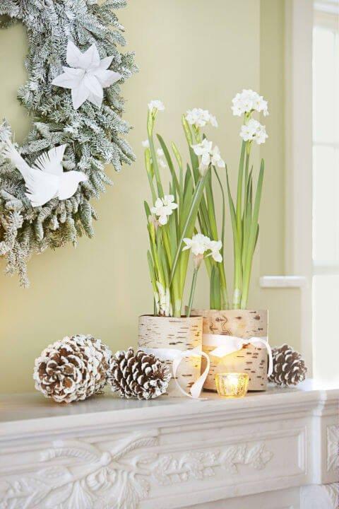 15 leichte DIY Weihnachtsdeko Ideen zum Selbermachen - Weihnachten DIY Deko Ideen Blumendeko