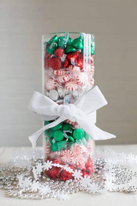 15 leichte DIY Weihnachtsdeko Ideen zum Selbermachen - Weihnachten DIY Deko Ideen Süßigkeiten