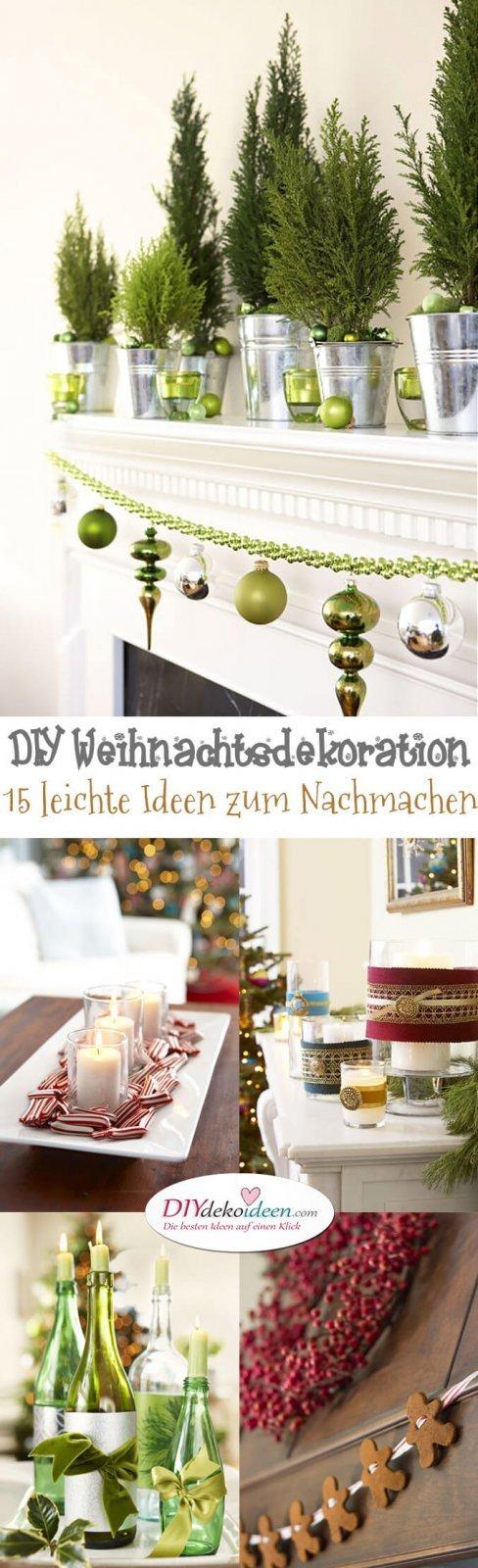 15 Ideen für DIY Weihnachtsdekoration - Weihnachten Dekoideen - Weihnachtsdeko