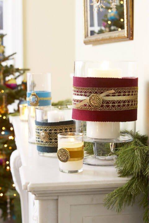15 Ideen für DIY Weihnachtsdekoration - Weihnachten Dekoideen - Weihnachtsdeko - dekorieren Kerzen basteln
