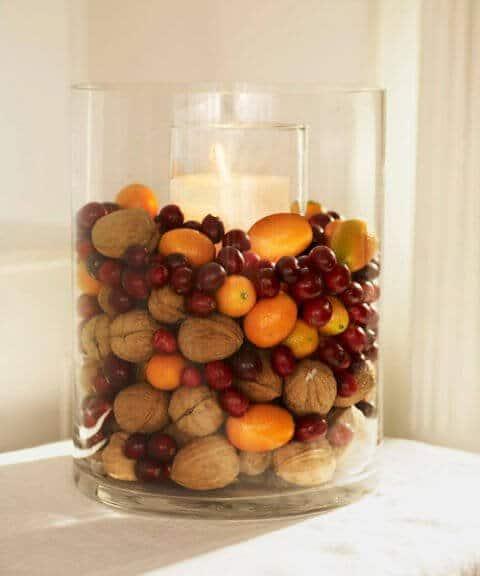 15 Ideen für DIY Weihnachtsdekoration - Weihnachten Dekoideen - Weihnachtsdeko - dekorieren Kerzen basteln mit Nüssen