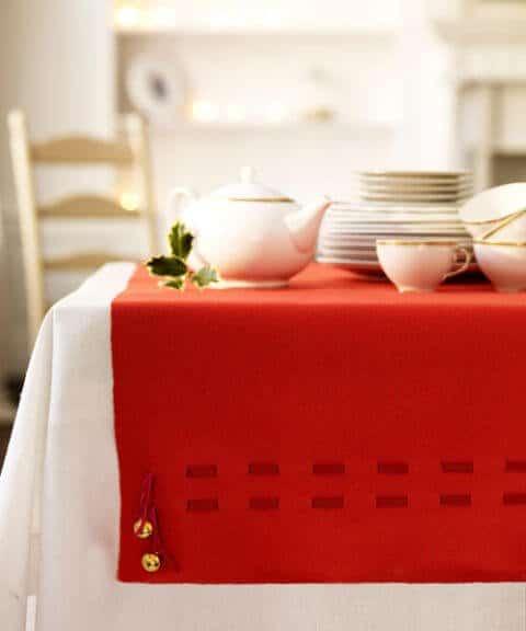 15 Ideen für DIY Weihnachtsdekoration - Weihnachten Dekoideen - Weihnachtsdeko - dekorieren Tischdecke Weihnachten Tischdeko