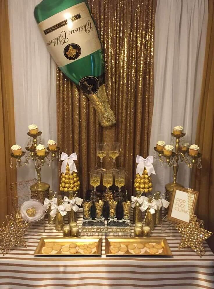15 Silvester Dekoideen - Partydeko Ideen - Silvesterparty - DIY Dekoideen zum Selbermachen - Silvester dekorieren - Silvester Büfett Idee