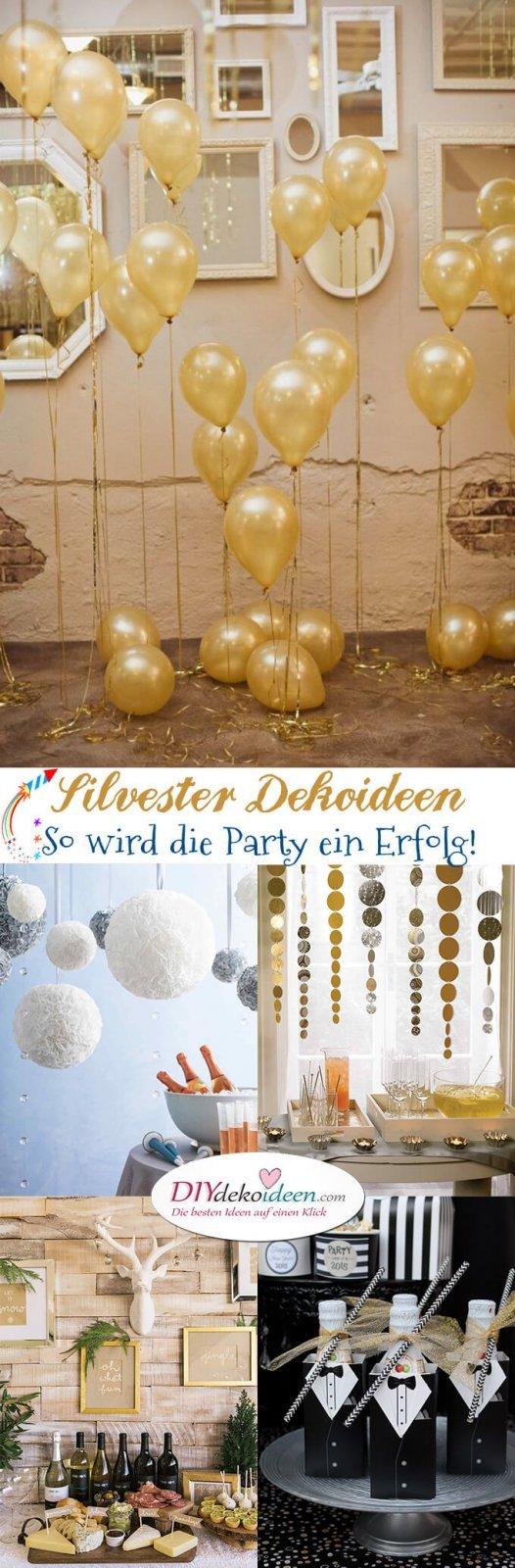 15 Silvester Dekoideen - Partydeko Ideen - Silvesterparty - DIY Dekoideen zum Selbermachen