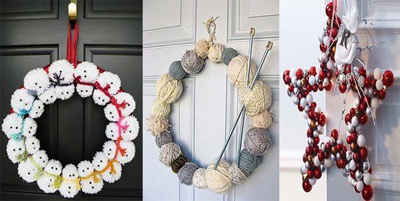 So könnt ihr einen richtig kreativen Weihnachtskranz basteln – 20+ Ideen