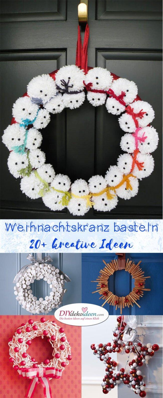 So Konnt Ihr Einen Richtig Kreativen Weihnachtskranz Basteln 20 Ideen