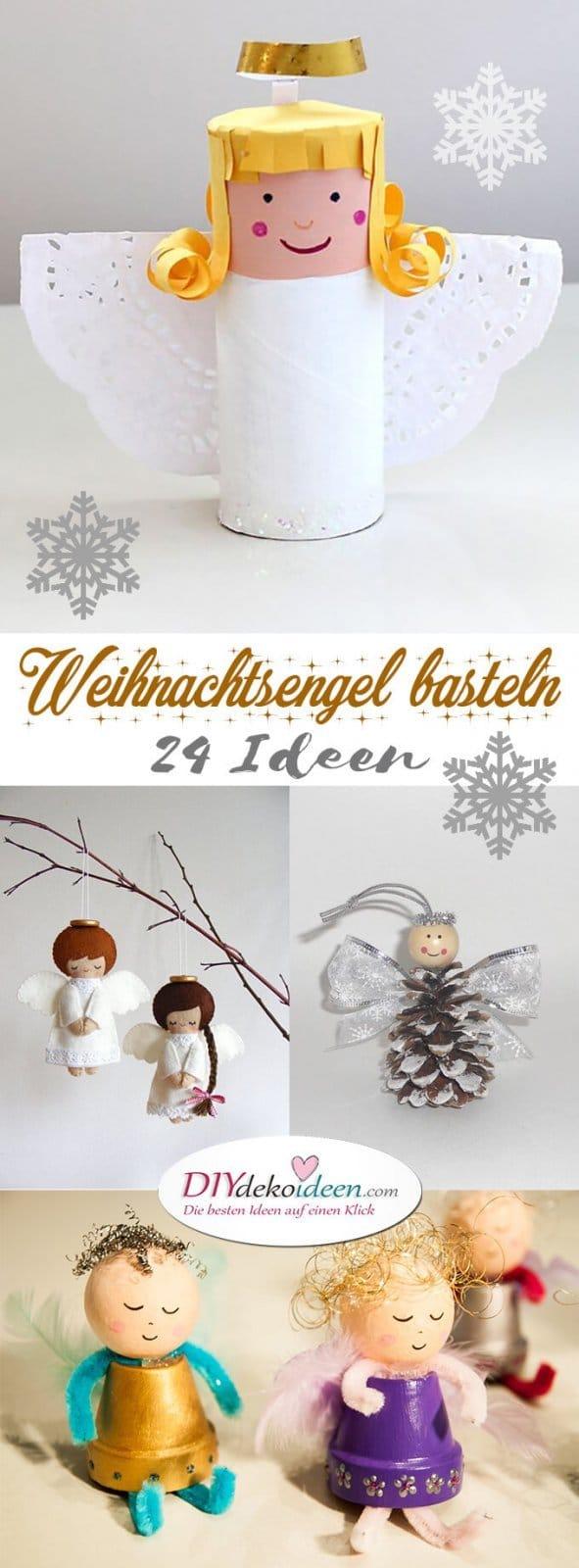 zauberhafte kleine weihnachtsengel basteln ber 20 diy bastelideen. Black Bedroom Furniture Sets. Home Design Ideas