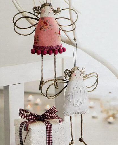 Weihnachtsengel basteln - Über 20 DIY Bastelideen - Weihnachtsbasteln - Engel nähen