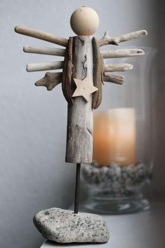 Weihnachtsengel basteln - Über 20 DIY Bastelideen - Weihnachtsbasteln - Engel basteln mit Holz - Geschenkidee Weihnachten