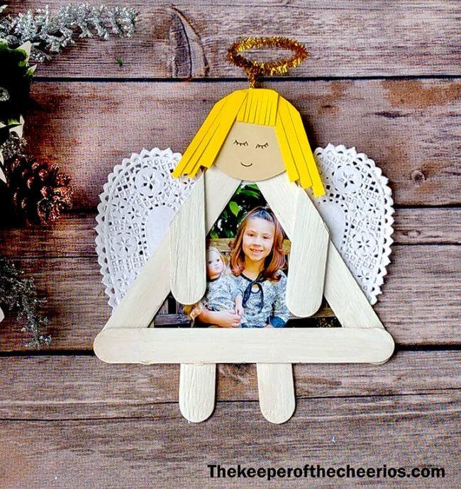 Weihnachtsengel basteln - Über 20 DIY Bastelideen - Weihnachtsbasteln - Engel basteln mit Eisstielen - Geschenkidee Weihnachten
