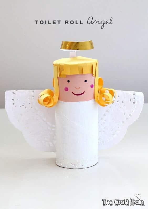 Weihnachtsengel basteln - Über 20 DIY Bastelideen - Weihnachtsbasteln - basteln mit Klopapierrollen