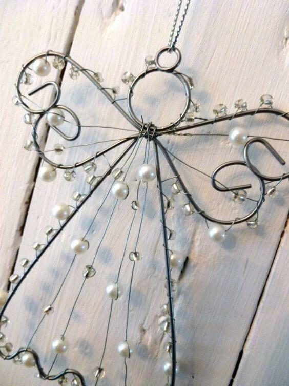 Weihnachtsengel basteln - Über 20 DIY Bastelideen - Weihnachtsbasteln - Engel basteln Draht- Geschenkidee Weihnachten