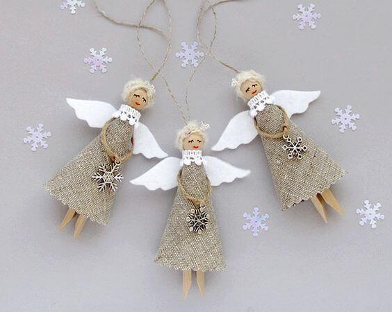 Weihnachtsengel basteln - Über 20 DIY Bastelideen - Weihnachtsbasteln - Engel basteln Jute - Geschenkidee Weihnachten