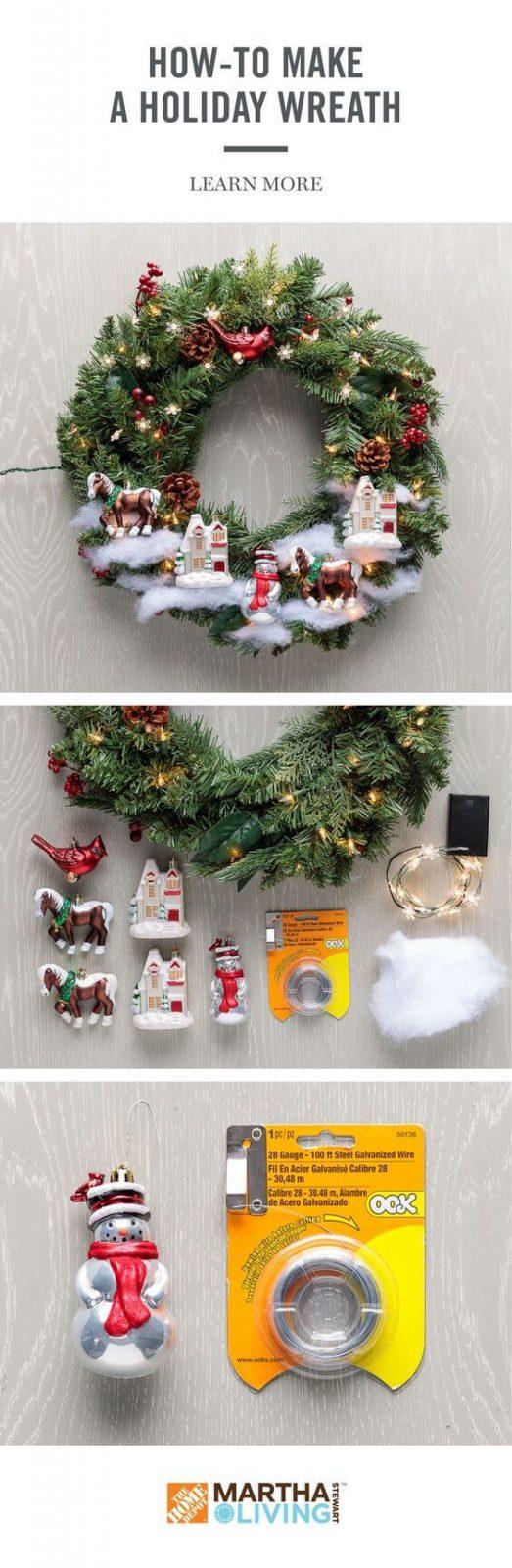 Weihnachtskranz basteln - 20 Ideen - Weihnachten 2017 - basteln für Weihnachten - DIY Dekoideen Weihnachten - Türkranz selber basteln - DIY Weihnachtsdeko - DIY Bastelideen Weihnachten