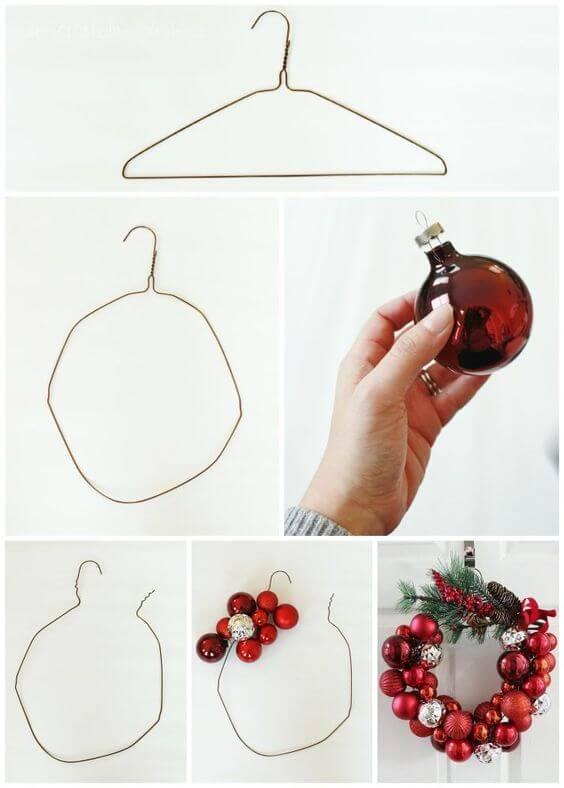 Weihnachtskranz basteln - 20 Ideen zum selbermachen - Weihnachten 2017 - basteln für Weihnachten - Türkranz basteln - DIY Weihnachtsdeko basteln