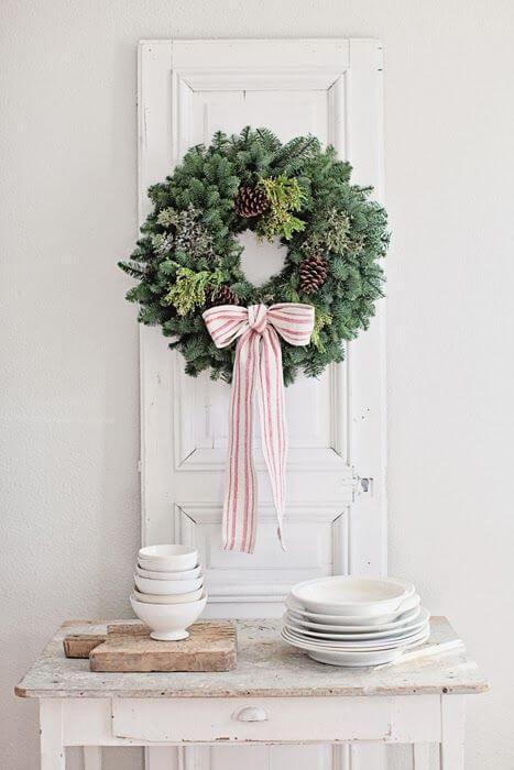 Weihnachtskranz basteln - 20 Ideen - Weihnachten 2017 - basteln für Weihnachten - Türkranz basteln - DIY Weihnachtsdeko basteln