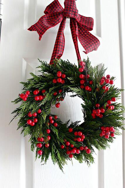 Weihnachtskranz basteln - 20 Ideen - Weihnachten 2017 - basteln für Weihnachten - DIY Dekoideen Weihnachten - Türkranz basteln - DIY Weihnachtsdeko basteln