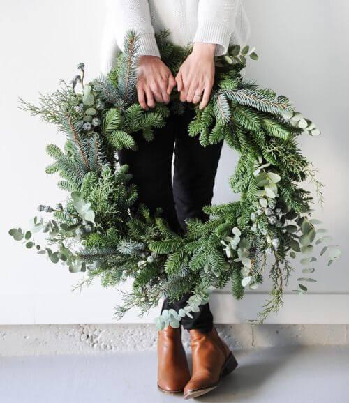 Weihnachtskranz basteln - 20 Ideen zum selbermachen - Weihnachten 2017 - basteln für Weihnachten - Türkranz basteln - Weihnachtsdeko basteln