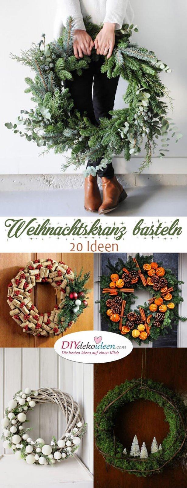 Weihnachtskranz basteln - 20 Ideen zum selbermachen - Weihnachten 2017