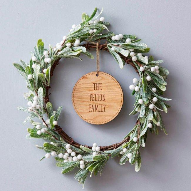 kreativ Weihnachtskranz basteln - 20+ Ideen zum selbermachen - Weihnachten 2017 - kreative Bastelideen - Türkranz schlicht