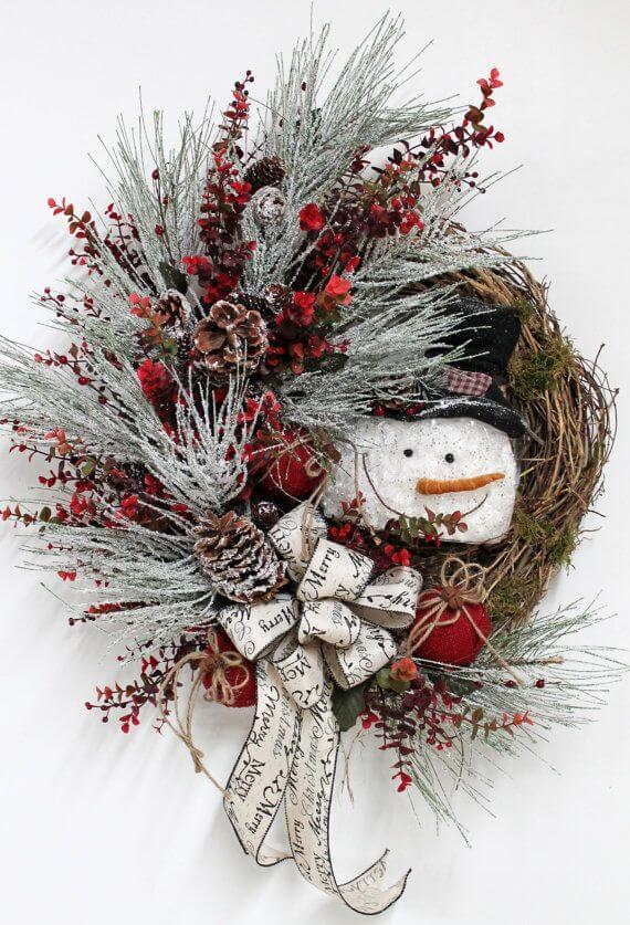 kreativ Weihnachtskranz basteln - 20+ Ideen zum selbermachen - Weihnachten 2017 - kreative Bastelideen - Türkranz Weihnachtsdeko - Weihnachten Trend