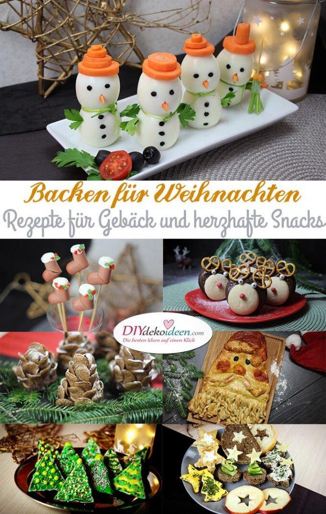 Backen für Weihnachten – Tolle Rezepte für Gebäck und herzhafte Snacks - Weihnachten backen kochen - Weihnachten Rezepte