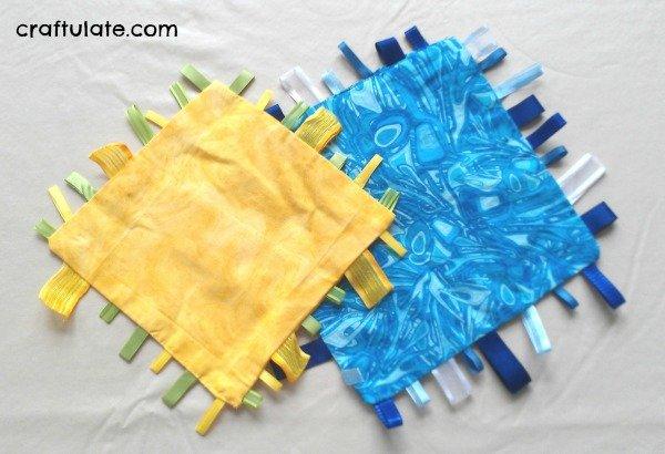 Babyspielzeug basteln -10+ süße DIY Bastelideen zum Selbermachen - Baby Spielzeug basteln - Babys - Kleinkinder - nähen einfach - Decke nähen