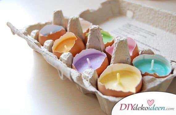 Eierkerzen, DIY Bastelideen für Ostern, Ostern basteln, Oster Bastelidee, Oster Deko, Osterdeko, Dekoideen Ostern, Bastelideen Ostern, basteln mit Kindern