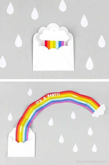 Geburtstagsparty DIY Deko - Kindergeburtstag -10+ Ideen Bastelideen Kinderparty Deko Karte basteln