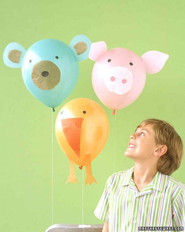 Geburtstagsparty DIY Deko - Kindergeburtstag -10+ Ideen Bastelideen Kinderparty Deko -Tierluftballons