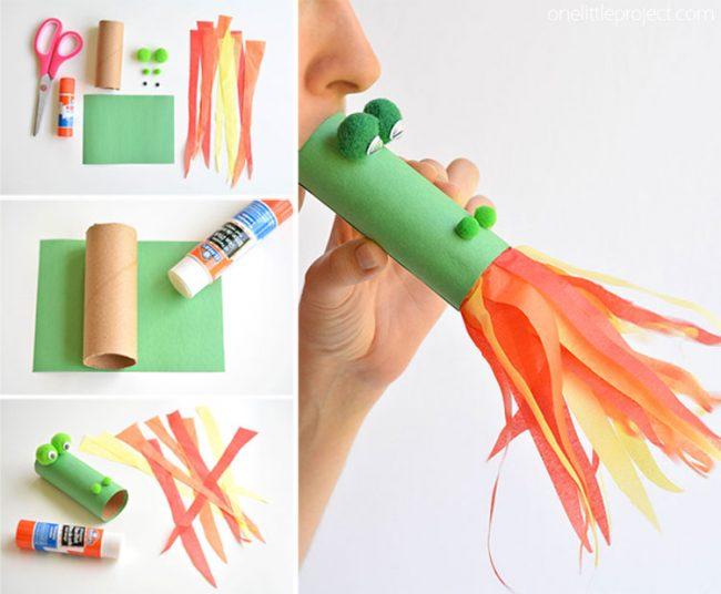 Geburtstagsparty DIY Deko - Kindergeburtstag -10+ Ideen Bastelideen Kinderparty Deko - basteln mit Klopapierrollen - Party Deko