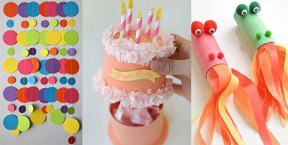 Geburtstagsparty DIY Deko für einen gelungenen Kindergeburtstag