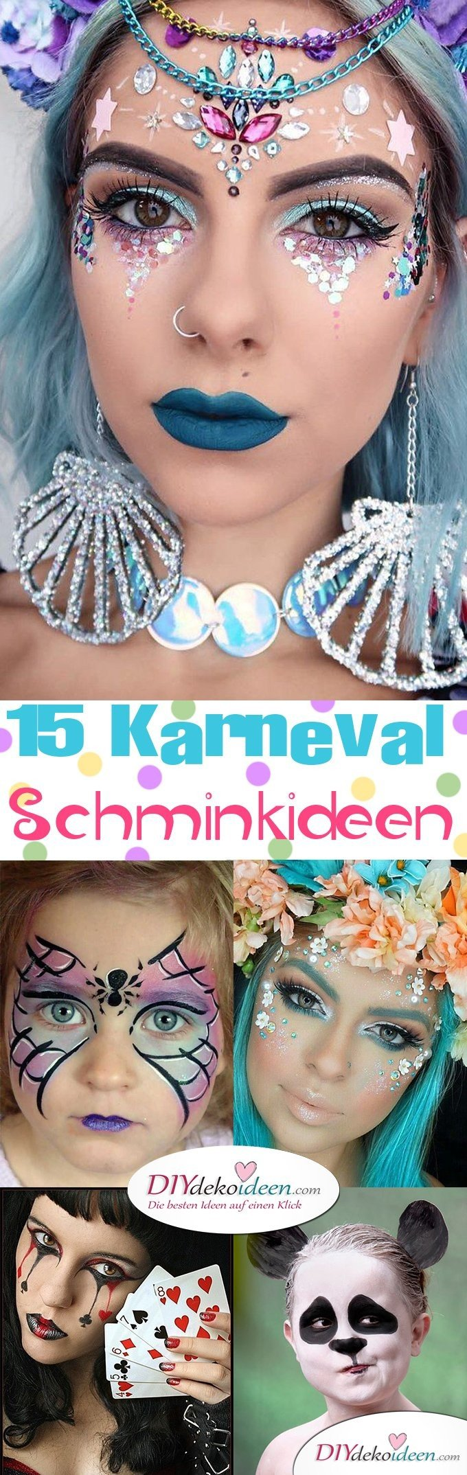 15+ Karneval Schminkideen, Fee Make up, Karneval, Schminktipps, Fasching Schminken, Make up Fasching, Karneval Kostüm Ideen,