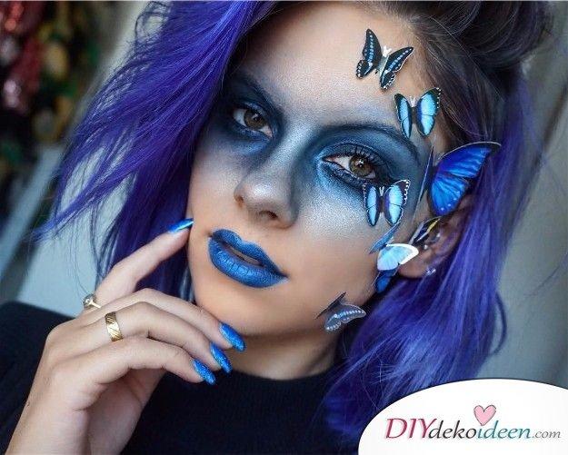 15+ Karneval Schminkideen, Schmetterling, Schmetterling Make up, Schmetterling schminken, Karneval, Schminktipps, Fasching Schminken, Make up Fasching, Karneval Kostüm Ideen,