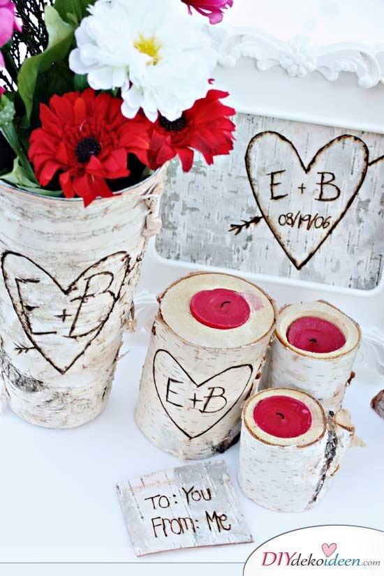 Männergeschenke zum Valentinstag, DIY Kerzenständer, DIY Bastelideen, Geschenk basteln, Valentinstag Geschenke, Geschenkideen, DIY Geschenk, Männer Geschenk, Geschenke für ihn, Valentinstag, persönliche Geschenke