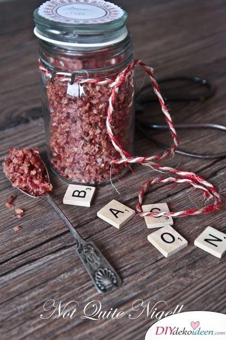 Männergeschenke zum Valentinstag, Bacon Salz Rezept, DIY Bastelideen, Geschenk basteln, Valentinstag Geschenke, Geschenkideen, DIY Geschenk, Männer Geschenk, Geschenke für ihn, Valentinstag,