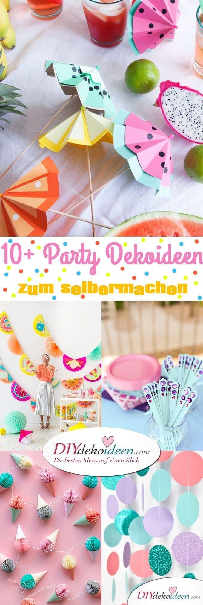 DIY Party Dekoideen zum selber machen, Partydeko Ideen, Party dekorieren, Geburtstagsparty Deko, Deko selber machen,