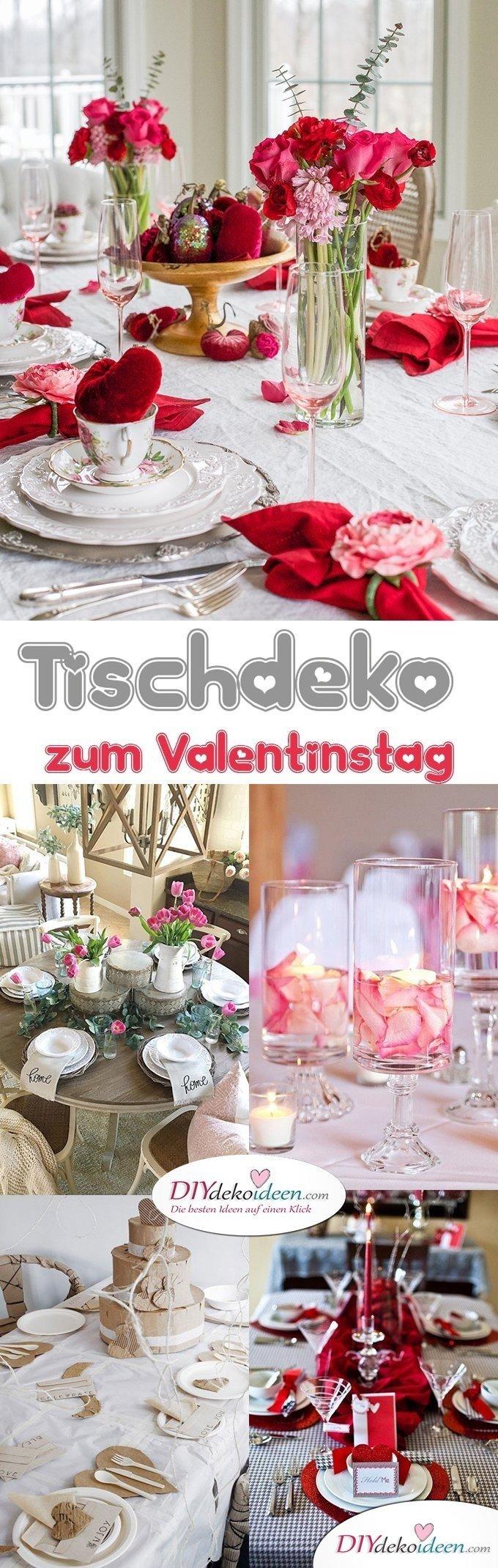 Tischdeko zum Valentinstag, Tisch Deko Ideen, Blumendeko, Valentinstag Deko Ideen, Deko Valentinstag, dekorieren, DIY Dekoideen, Deko basteln, romantische Deko,