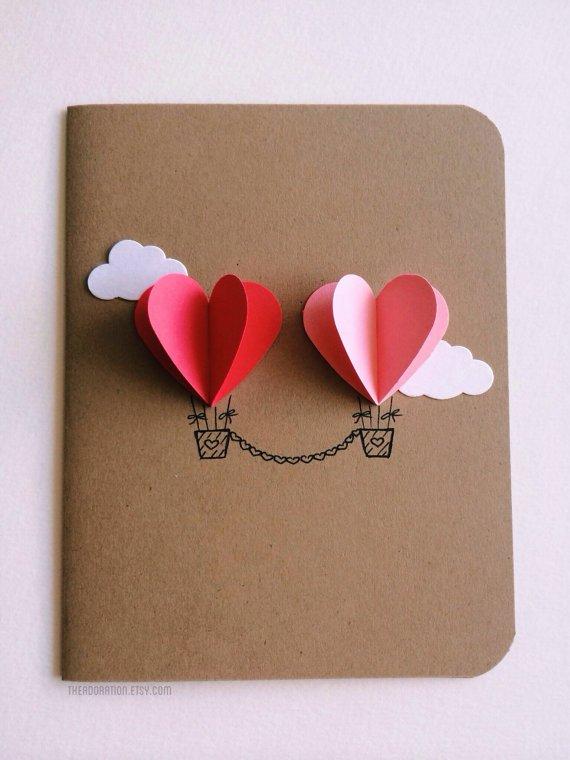 Herzluftballons, Valentinstag Karten basteln, Valentinstag, Valentinstag basteln, Valentinstag Bastelideen, DIY Bastelideen, romantisch, Karten basteln