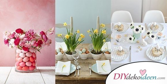 Die schönsten Ostertischdeko DIY Dekoideen für euer Esszimmer